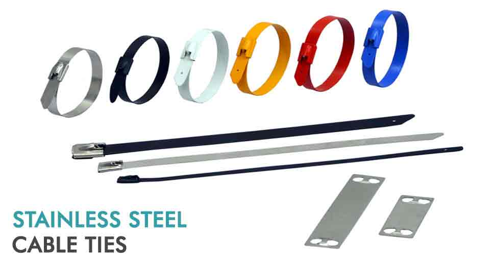 Stainless Steel Wire Ties : Aluminium cable cleats enclosures stainless